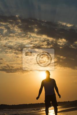 Der Mann Silhouette