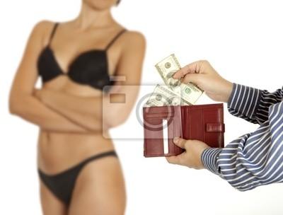 Der Mensch ist für Sex bezahlen (Dollar-Banknoten)