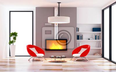 Bild Der Modernen Wohnzimmer Innenraum Modernen Stil Konzept