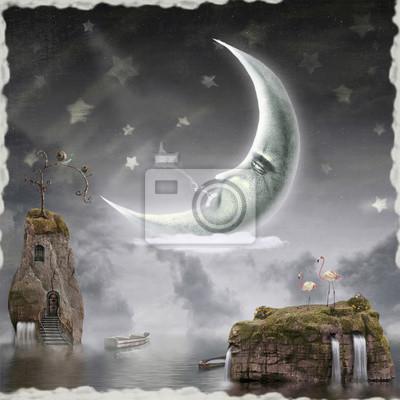 Der Mond ist im Himmel