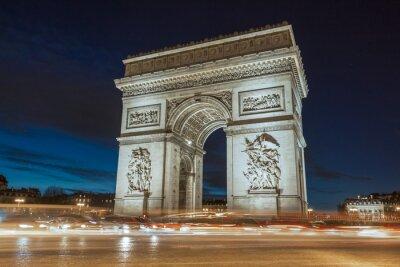Bild Der Triumphbogen am Abend.