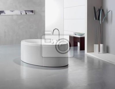 Design Badezimmer Dachboden Leinwandbilder Bilder