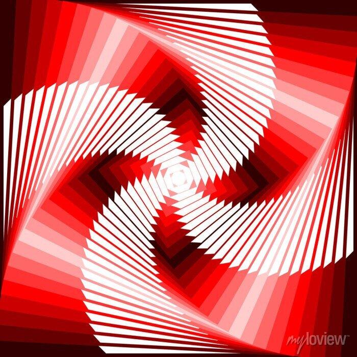 Bild Design bunte Wirbel-Bewegung Illusion Viereck geometrischen zurück