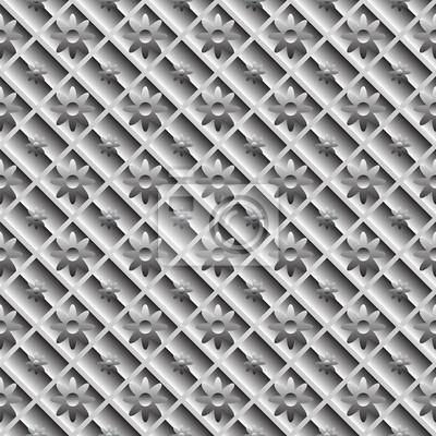 Design die nahtlose Metallic Diagonale Muster