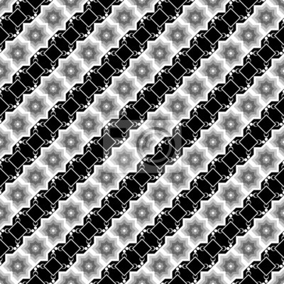 Design die nahtlose monochrome diagonale Muster