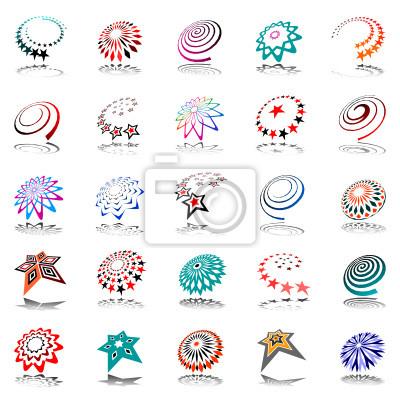 Design-Elemente gesetzt. Abstrakte Symbole.