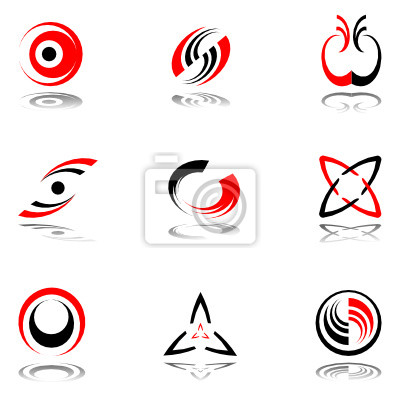 Design-Elemente in rot-grau Farben # 3.