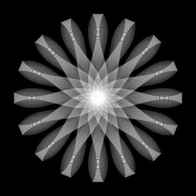Design monochrome decorative circle element