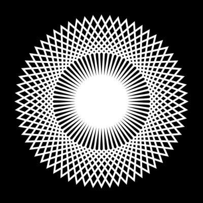 Design monochrome decorative snowflake element