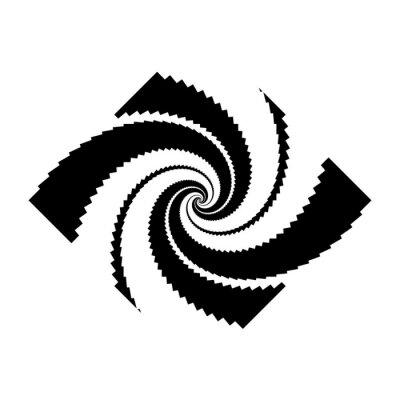 Design monochrome spiral movement illusion background
