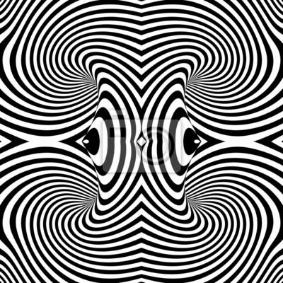 Design monochrome Wirbelbewegung Illusion Hintergrund