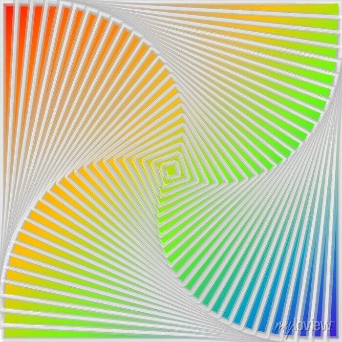 Bild Design multicolor swirl movement illusion background