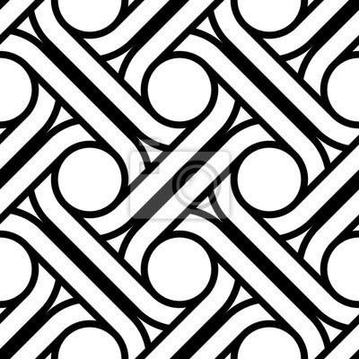 Design seamless interlaced pattern