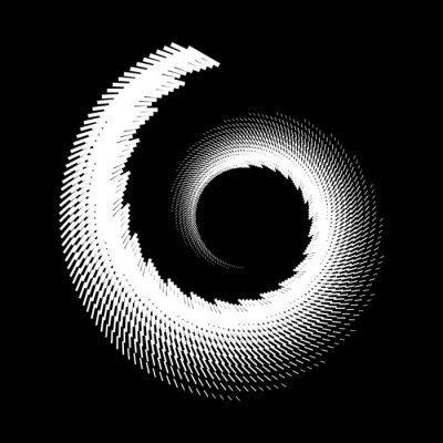 Design spiral doodled backdrop