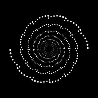 Design spiral dots backdrop