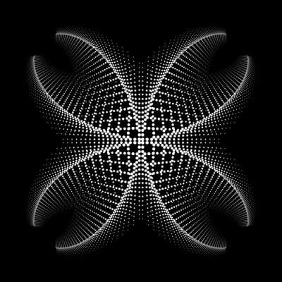 Design spiral dots flower backdrop