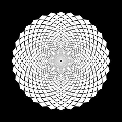 Design spiral illusion backdrop