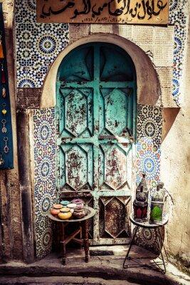 Detail Der Schönen Fliesen Mosaik Dekoration Fez Marokko - Mosaik fliesen marokko