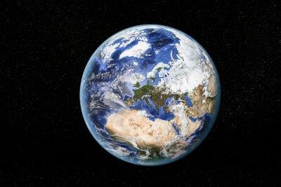 Bild Detailansicht der Erde aus dem Weltraum, zeigt Nordafrika, Europa und dem Nahen Osten. Elemente dieses Bildes von der NASA eingerichtet