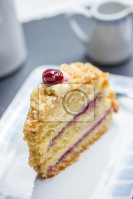 Deutsch Beruhmten Frankfurter Kranz Kuchen An Einem Couchtisch