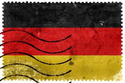 Bild Deutschland Flagge - alte Briefmarke