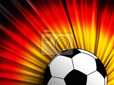 Deutschland Flagge Mit Fussball Hintergrund Leinwandbilder