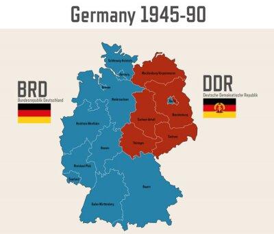 Kalter Krieg Karte.Bild Deutschland Kalter Krieg Karte Mit Flaggen Von Ost Und Westdeutschland