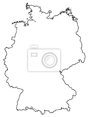 Deutschland Karte Umriss Deutschland Karte Leinwandbilder Bilder