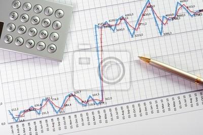 Diagramme und Grafiken von Verkäufen