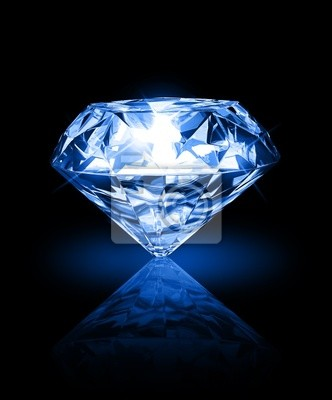Diamant auf dunklem Hintergrund
