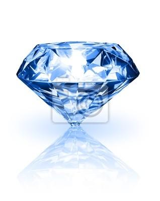 Diamant auf weißem Hintergrund