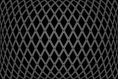 Diamonds pattern on 3D black background.