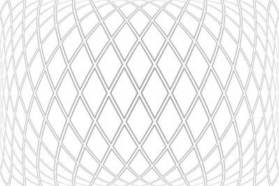 Diamonds pattern on 3D white background.