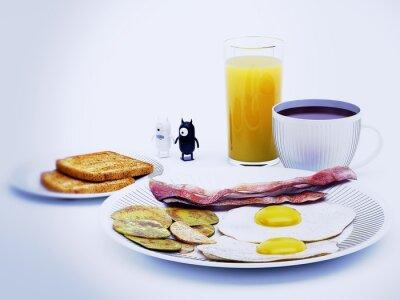 Bild diavoli alieni einem colazione Rendering 3D