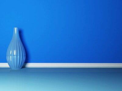 Bild die blaue Vase im blauen Zimmer