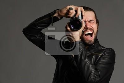 Die Fotografen schreien nach Modell