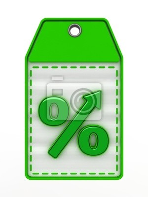 Die grüne Zeichen der Benennung Prozent Zunahme