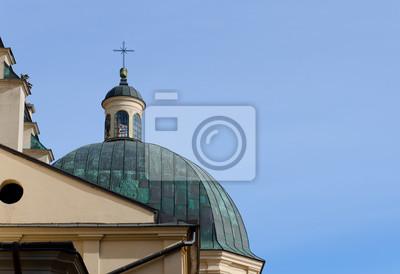 Die Kuppel der Kathedrale der Himmelfahrt der Jungfrau Maria (lateinische Kathedrale). Lwow