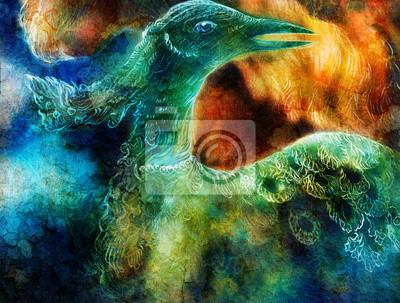 die Phoenix-Vogel-Collage.