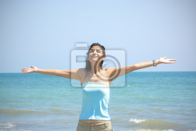 Die Schöne Frau auf dem Strand