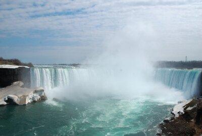 Bild Die spektakulären Niagara Falls im Winter.
