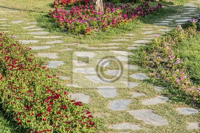 Die Straße zwischen den Blumen