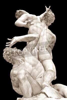 Bild Die Vergewaltigung der Sabinerinnen von Giambologna Loggia in der Piazza della Signoria, Florenz, Italien