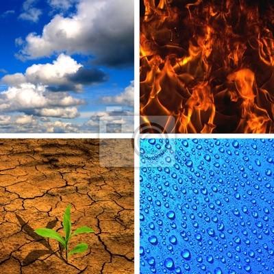 Bild Die vier Elemente - Luft, Feuer, Wasser, Erde