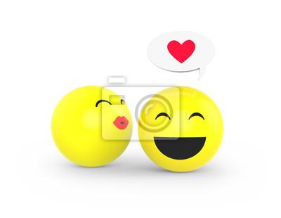 Dielen Gibt Es Ein Kusschen Leinwandbilder Bilder Emoticons