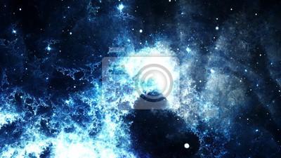 Bild Digital Zusammenfassung einer hellen und bunten Nebel Galaxie und Sternen