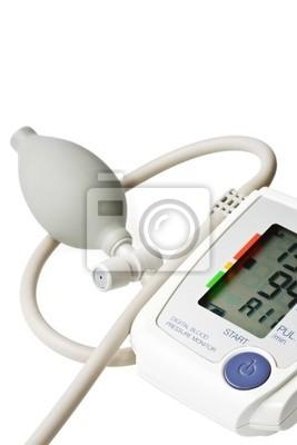 Bild Digitale Blutdruckmessgerät isoliert auf weiß