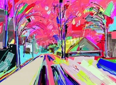 Bild Digitale Malerei der Winterlandschaft