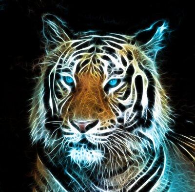 Bild Digitale Zeichnung eines Tigers