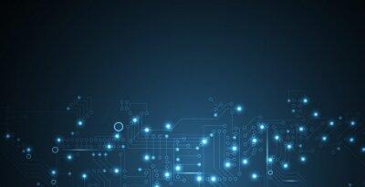 Bild Digitaltechnik Welt. Business virtuellen Konzept. Vector Hintergrund
